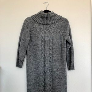 Joe Fresh Women's 3/4 Sleeve Gray Sweater Dress